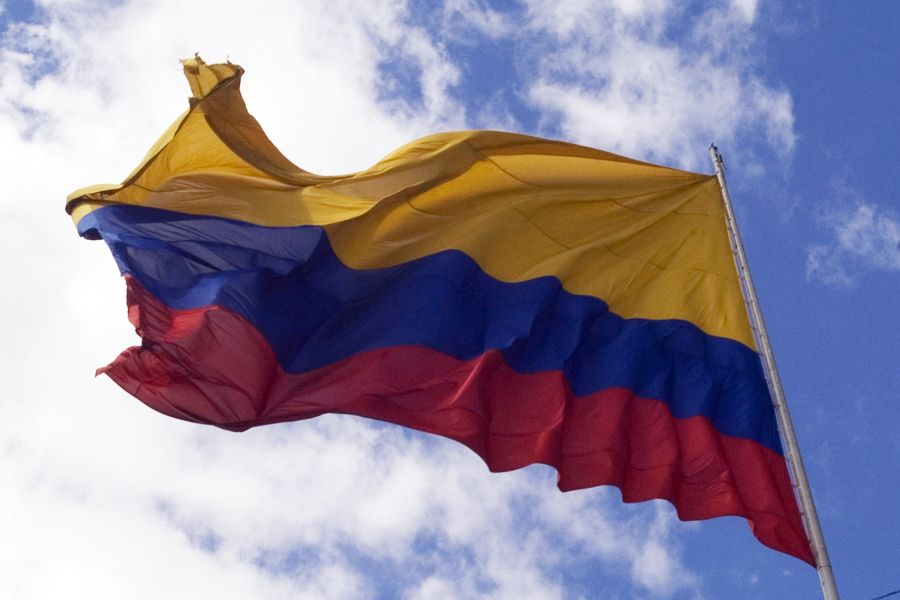 The flag of Colombia.