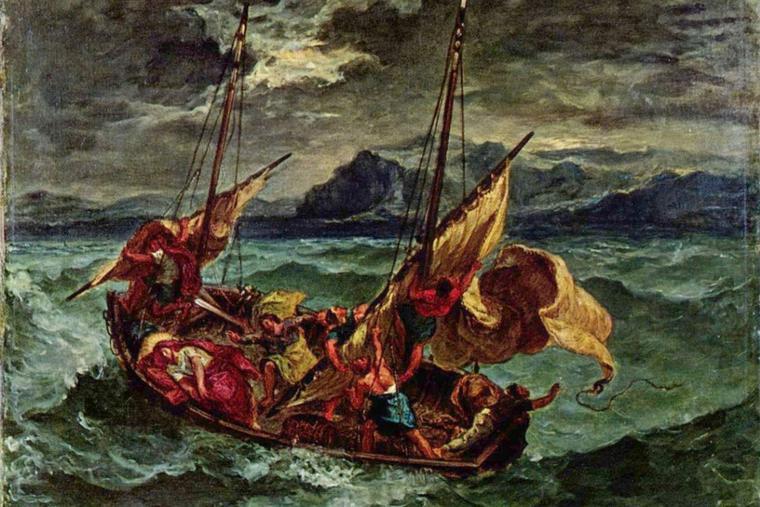 Eugène Delacroix, 'Christ on the Sea of Galilee,' 1854