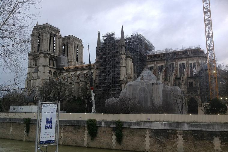 Ongoing stabilization of Notre Dame (29 February 2020)