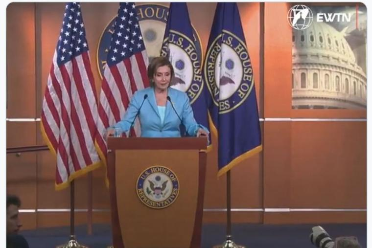 Speaker of the House Nancy Pelosi did not directly answer the question from the reporter on June 17.