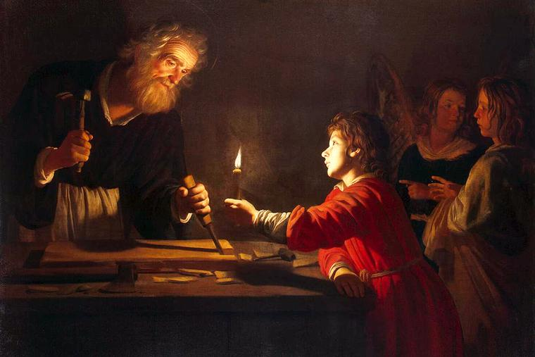 "Gerard van Honthorst, ""The Childhood of Christ,"" c. 1620"