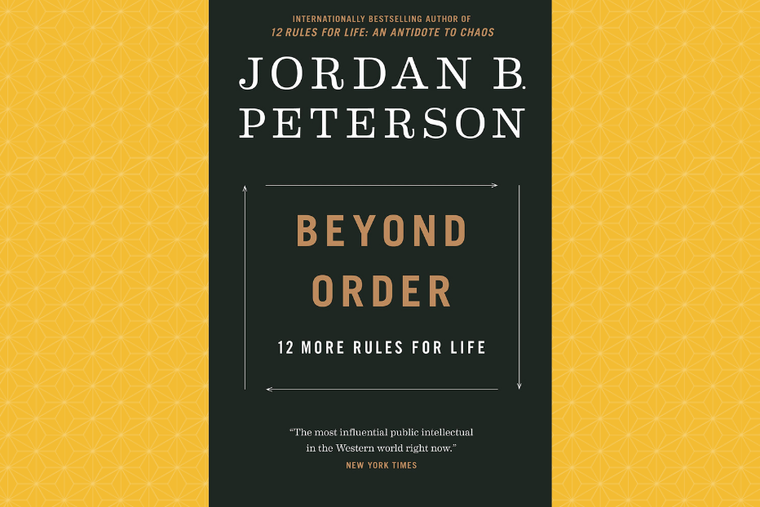 """Book cover of Jordan Peterson's latest, """"Beyond Order"""" available now."""