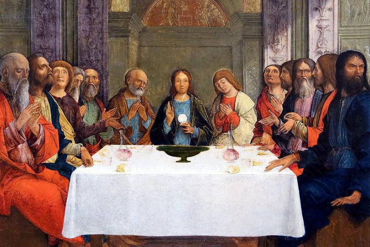 "Ercole de' Roberti, ""Institution of the Holy Eucharist,"" ca. 1495"