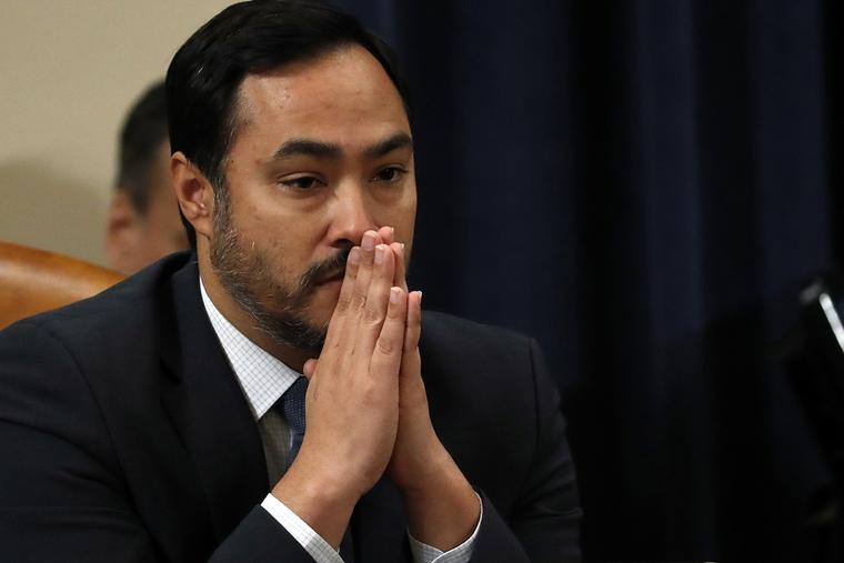 Rep. Joaquin Castro, D-Texas, listens to testimony at the House Intelligence Committee on Nov. 19, 2019, in Washington, DC. The congressman has served as a visiting professor at a Catholic college, St. Mary's University in San Antonio, Texas, while advancing a pro-abortion, pro-same-sex marriage record in the House of Representatives.