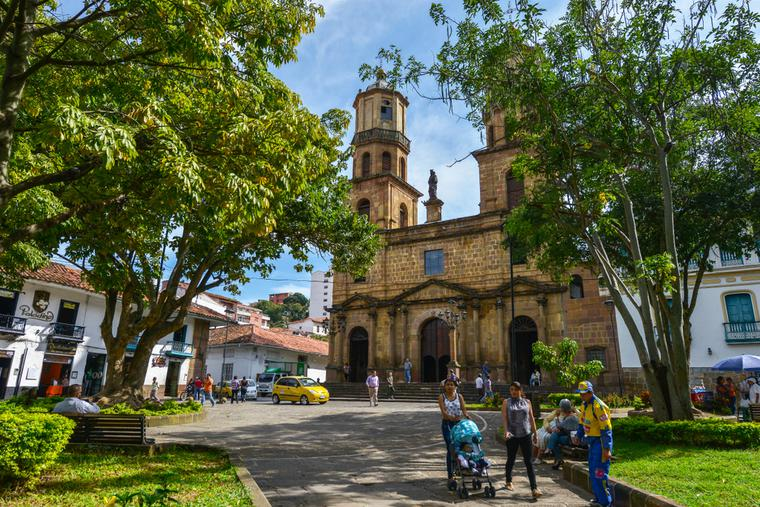 Cathedral of San Gil on August 10, 2017 in San Gil, Colombia.