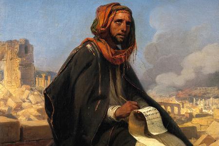 "Horace Vernet, ""Jeremiah on the Ruins of Jerusalem,"" 1844"