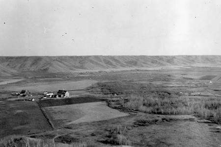 Marieval Mission, Cowesses Indian Residential School in Elcapo Creek Valley, Saskatchewan, 1923