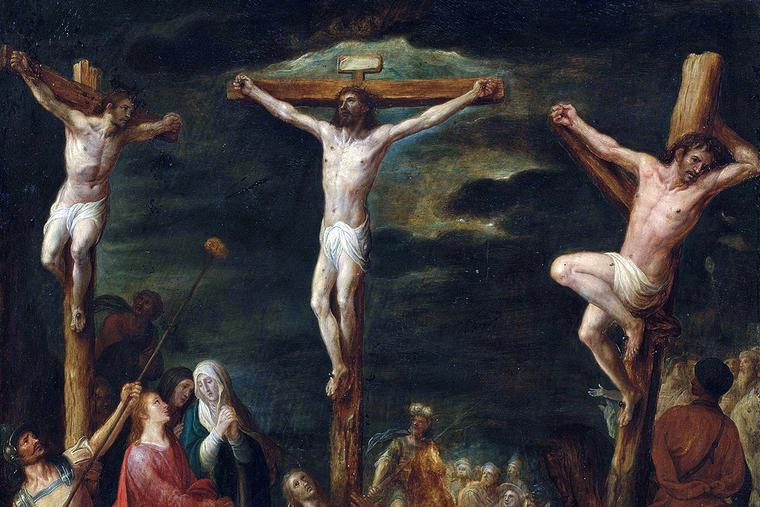 """Jan Snellinck, """"The Crucifixion With the Two Thieves,"""" bet. 1597 and 1638"""