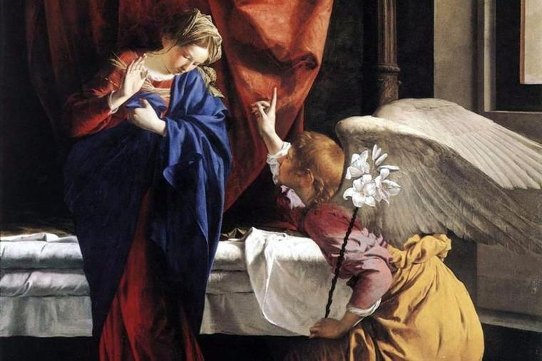 'Annunciation' (c. 1623), Orazio Gentileschi