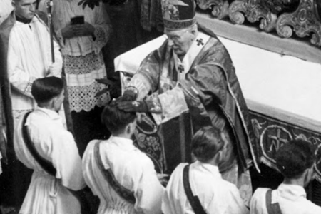 Ordination of Father Joseph Ratzinger in 1951.