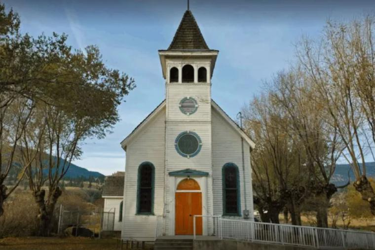 One of the five Canadian Catholic churches that burned in a week was Sacred Heart Mission Church in Penticton, British Columbia.