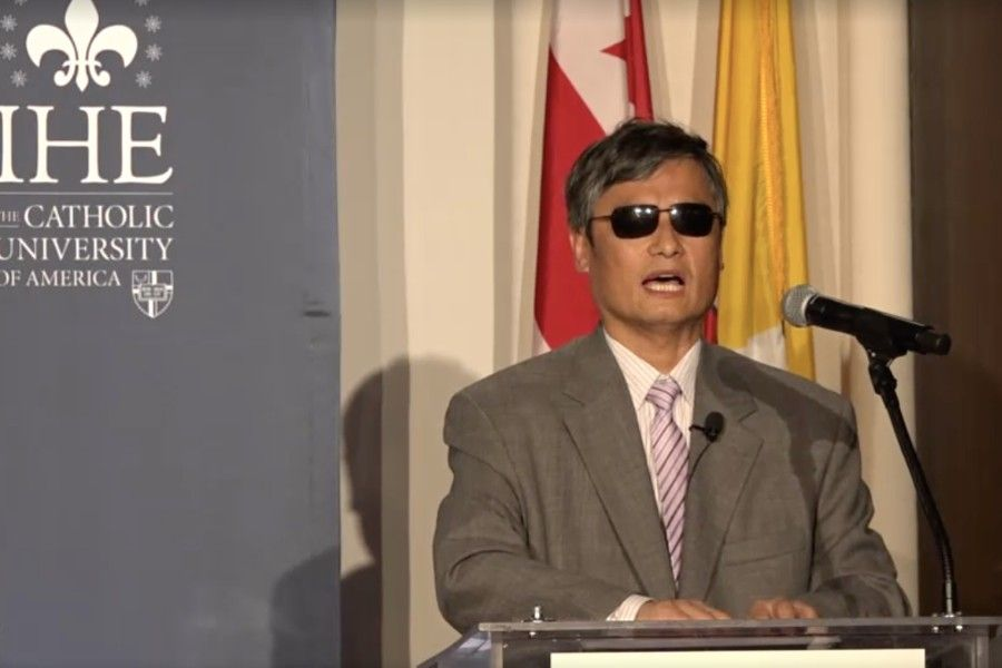 Chinese Civil Rights Activist Chen Guangcheng, featured here at a talk at Catholic University of America, will speak at the IRF event July 13-15.