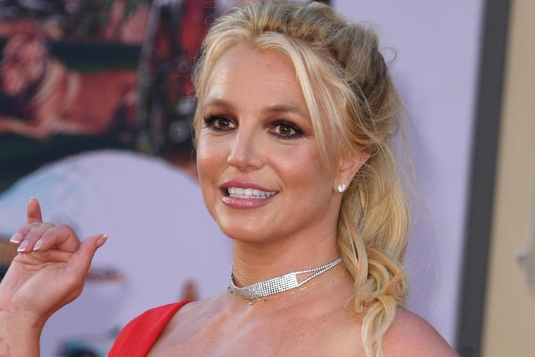 """Britney Spears arrives for the premiere of Sony Pictures' """"Once Upon a Time ... in Hollywood"""" at the TCL Chinese Theatre in Hollywood, California on July 22, 2019."""