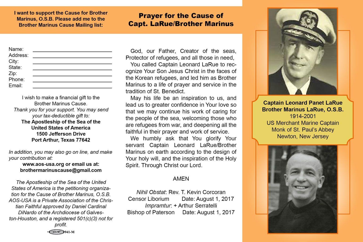 Brother Marinus prayer