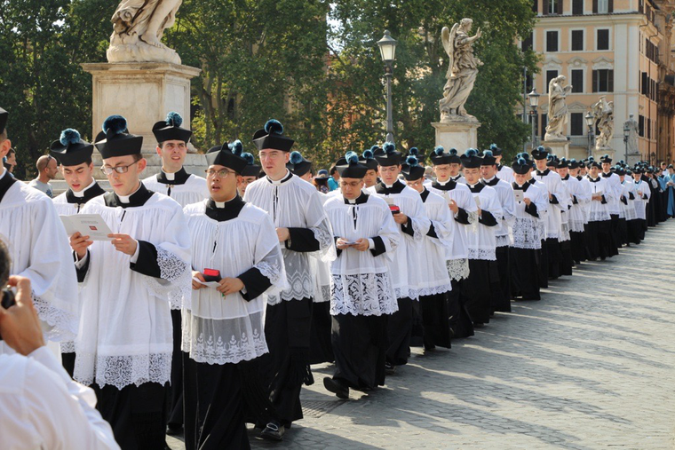 Traditional procession in Rome, 2017.