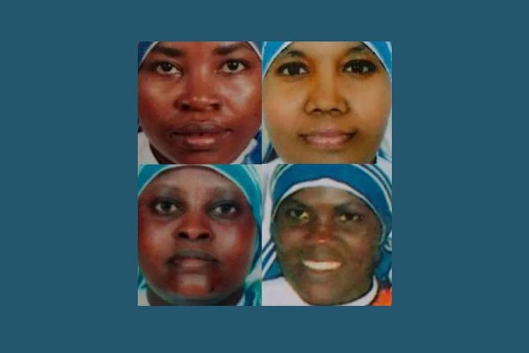 Clockwise from upper right: Sister Anselm, Sister Reginette, Sister Judith and Sister Marguerite, the Missionaries of Charity sisters who were killed in Aden, Yemen, by two gunmen who attacked their convent on March 4, 2016. A new film project will tell their story.