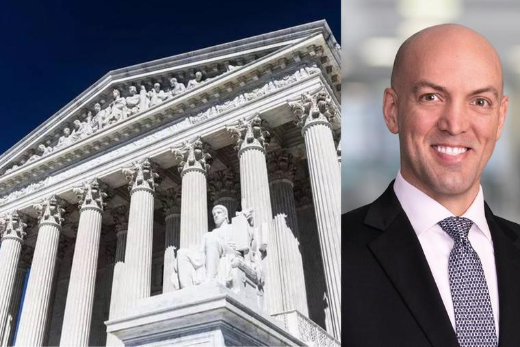 The U.S. Supreme Court Building (left) and legal adviser Eric Kniffin