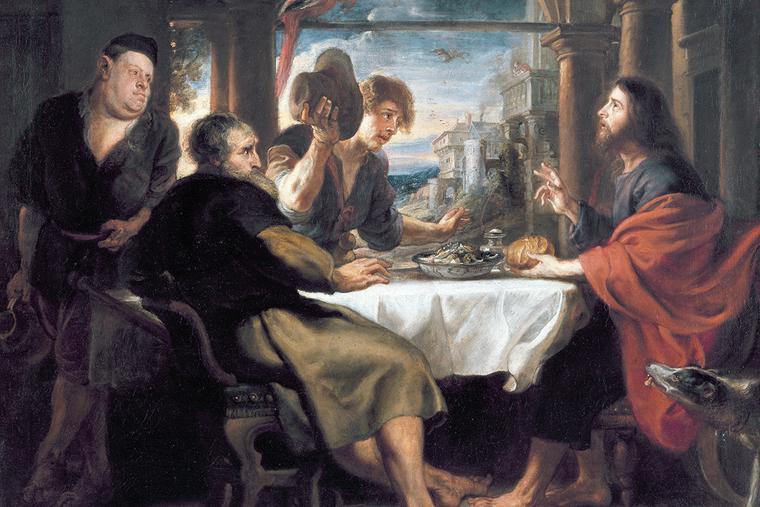 """Peter Paul Rubens, """"Supper at Emmaus,"""" ca. 1635"""