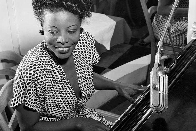 Mary Lou Williams plays the piano in New York City in 1946.