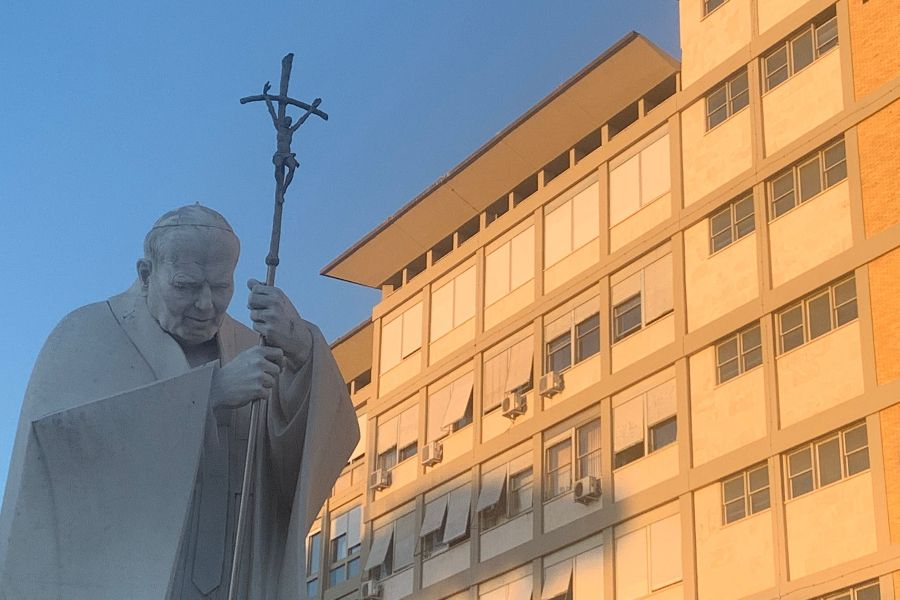 Rome's Gemelli Hospital, pictured on July 5, 2021, as Pope Francis convalesces after a surgery.