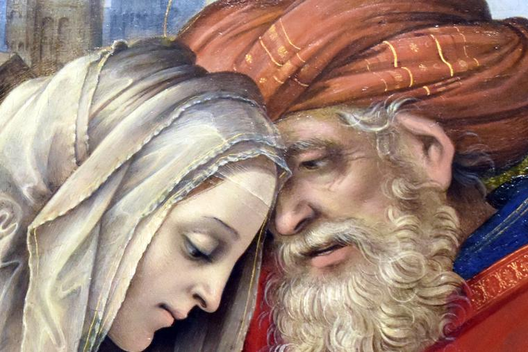 "Filippino Lippi, ""The Meeting of Sts. Joachim and Anna,"" 1497"