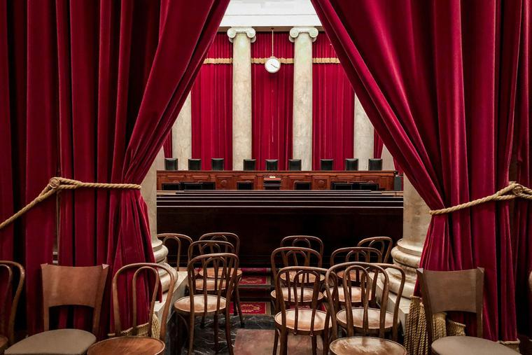 Above is an interior shot of the Supreme Court in Washington, D.C.