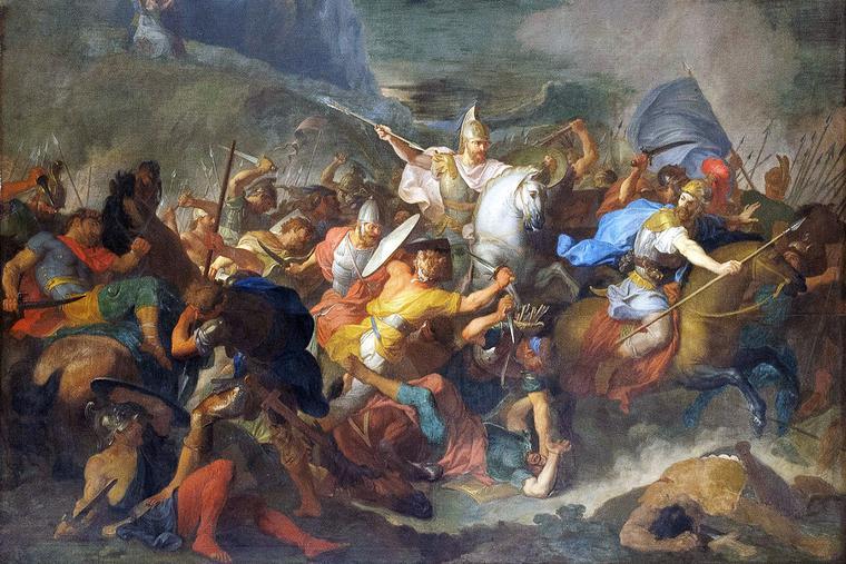 "René-Antoine Houasse (c. 1645-1710), ""Joshua Battles the Amalekites"""