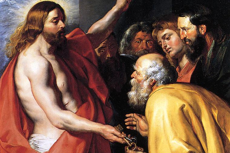 "Peter Paul Rubens, ""Christ Giving the Keys to St. Peter"" (c. 1614)"