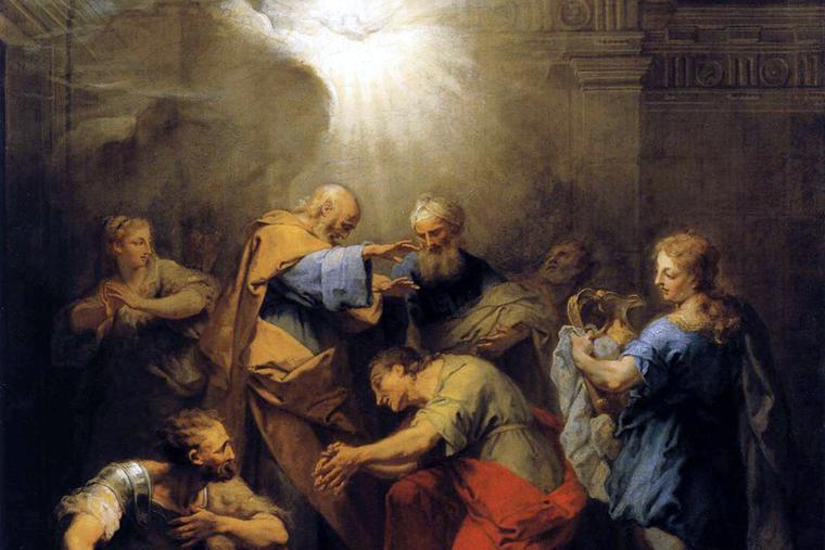 """Jean II Restout, """"Ananias Restoring the Sight of St. Paul,"""" 1719"""
