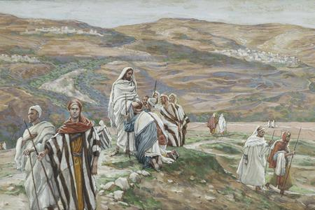"""James Tissot, """"He Sent Them Out Two by Two,"""" 1886-1896"""