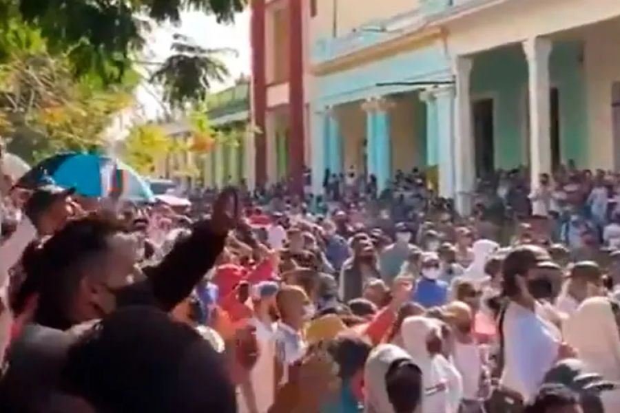 Protesters took to the streets across Cuba over the weekend.