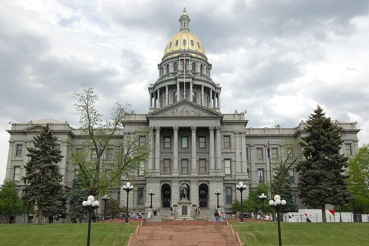 State capitol building in Denver, Colo.