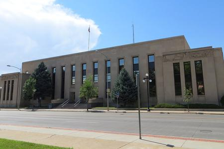 The Natrona County Courthouse at 200 N. Center in Casper, Wyoming.