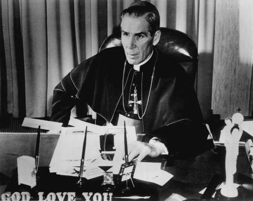 Wiki Commons Bishop Fulton Sheen 1956