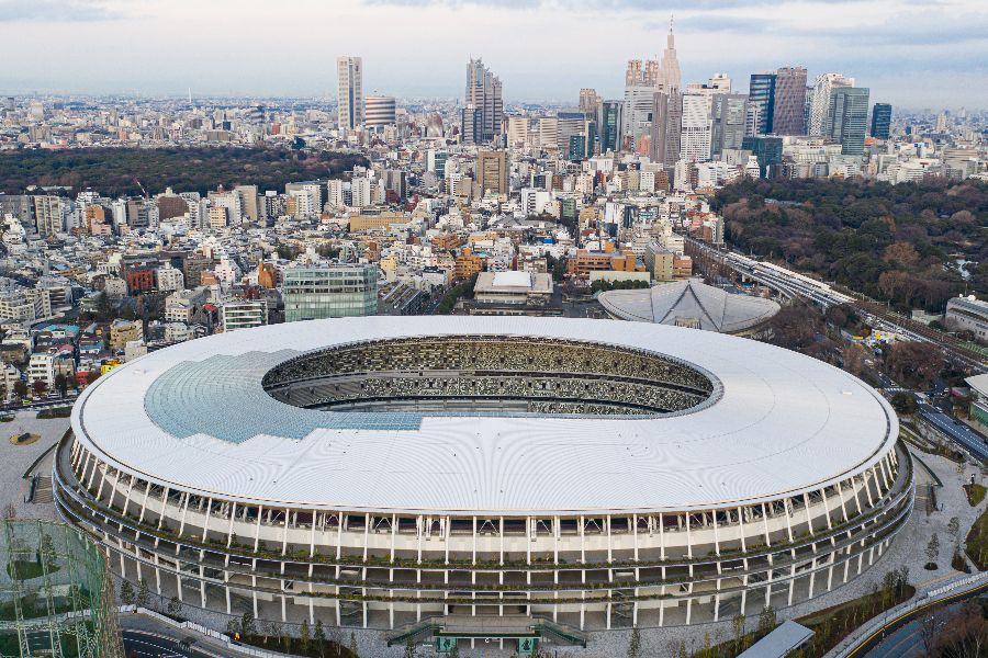 Japan National Stadium in Tokyo is the main stadium of the 2020 Summer Olympics.