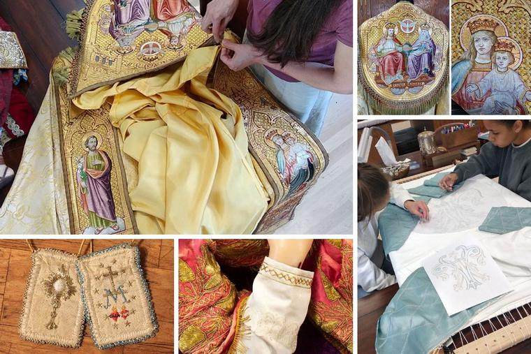 The intricate work is a group effort for St. Martha's Guild at St. John Cantius Church in Chicago.