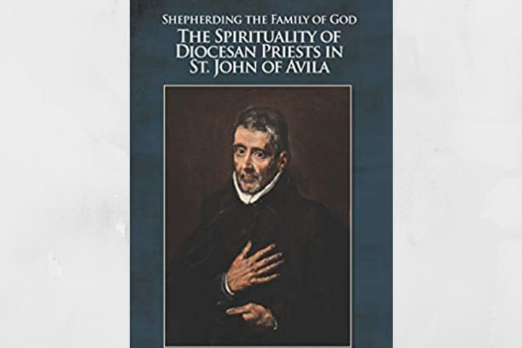 Book cover 'Shepherding the Family of God: The Spirituality of Diocesan Priests in St. John of Avila' by Father Gustavo Castillo.