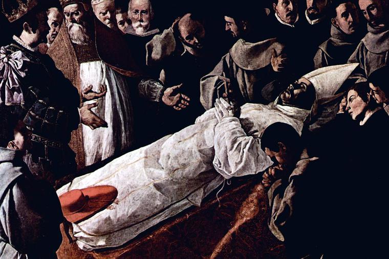 "Francisco de Zurbarán, ""Saint Bonaventure's Body Lying in State,"" 1629"