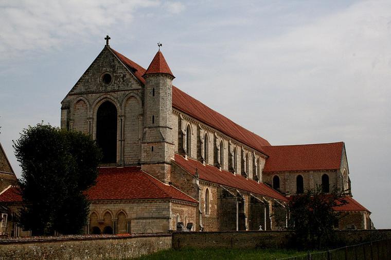 Abbey of Pontigny in the Bourgogne-Franche-Comté region of eastern France