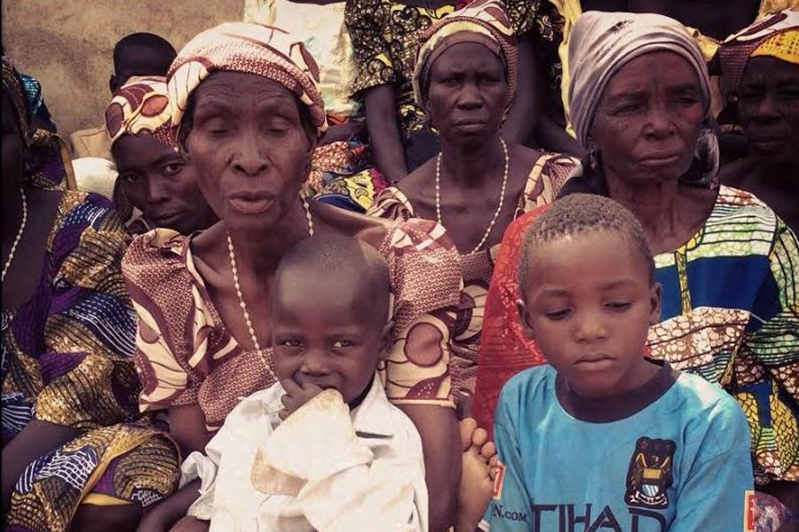 Nigerian Christians displaced from their homes by Boko Haram attacks.