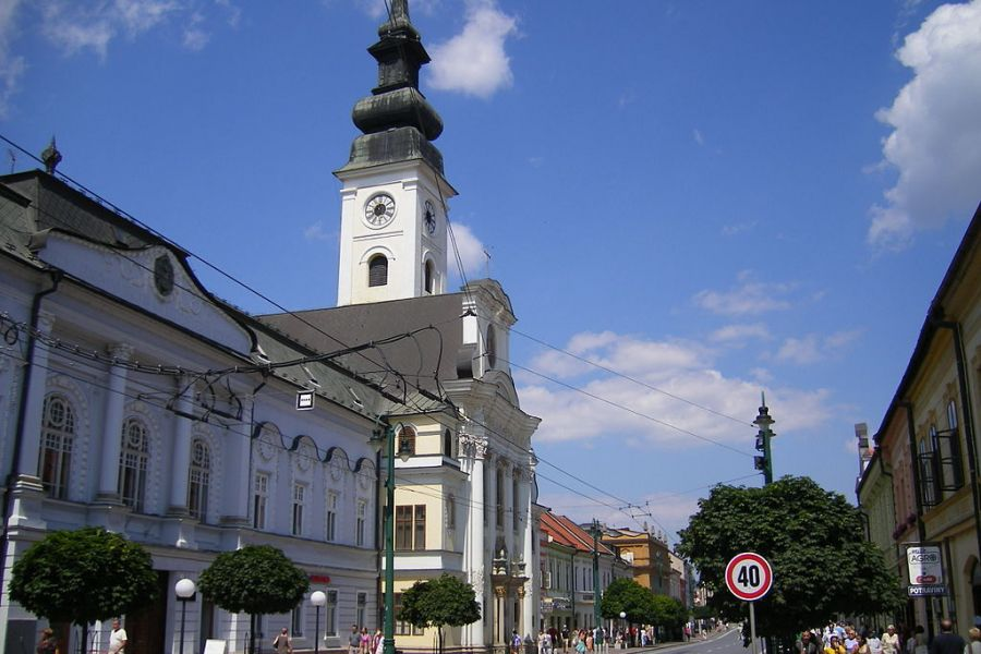 The Cathedral of Saint John the Baptist in Prešov, mother church of the Slovakian Archdiocese of Prešov.