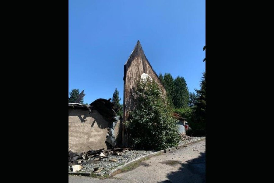 The remains of St. George Coptic Orthodox Church, Surrey, BC