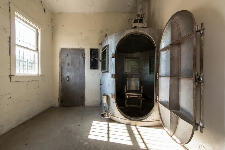 The gas chamber at the Wyoming Frontier Prison on July 18, 2012 in Rawlins, Wyoming