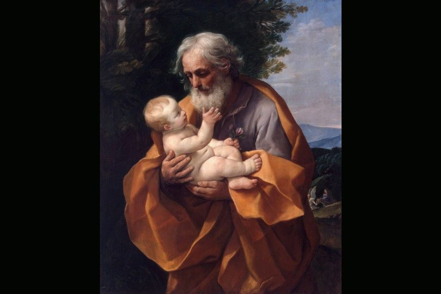 St. Joseph with the Infant Jesus, by Guido Reni, circa 1635