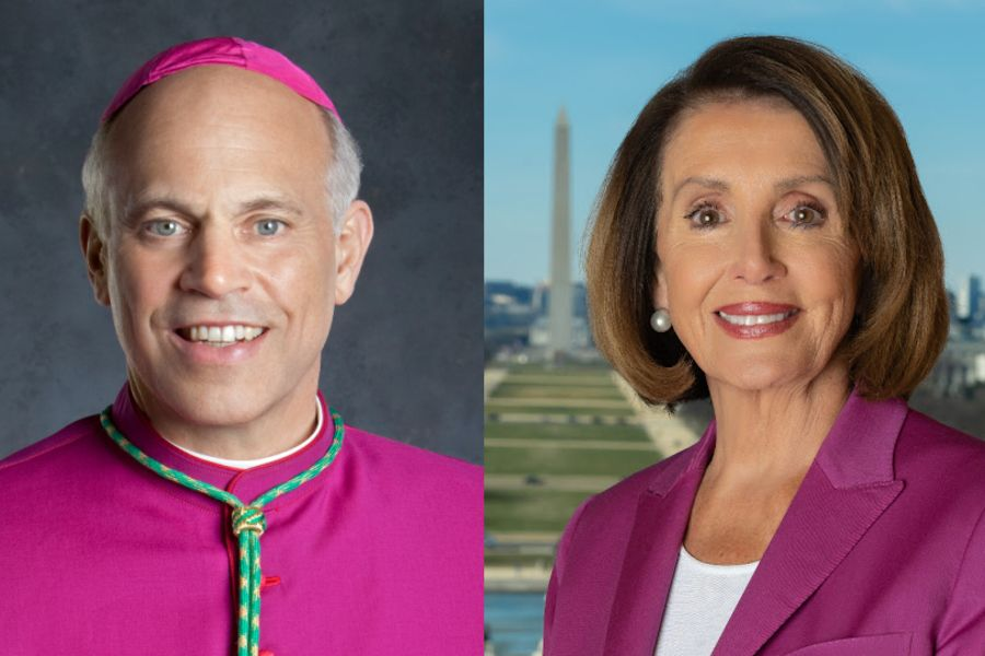 Archbishop Salvatore Cordileone of San Francisco and House Speaker Nancy Pelosi.