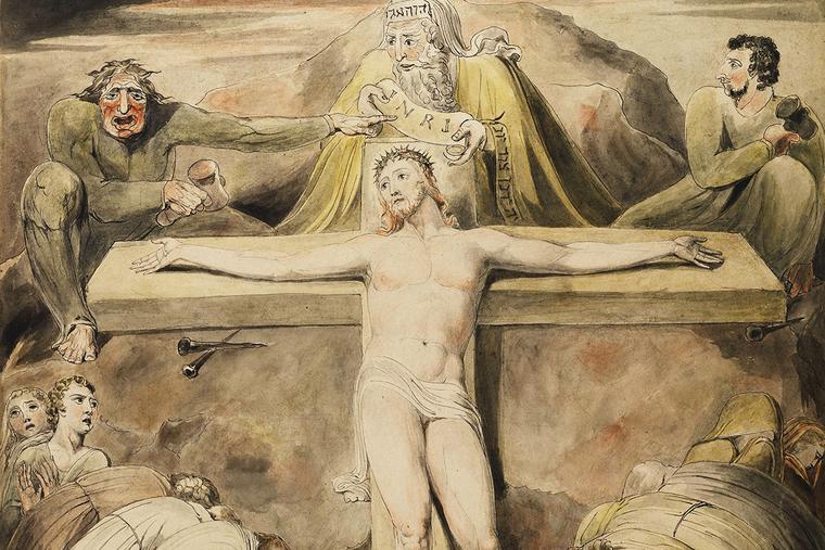 "William Blake, ""Christ Nailed to the Cross,"" ca. 1800"
