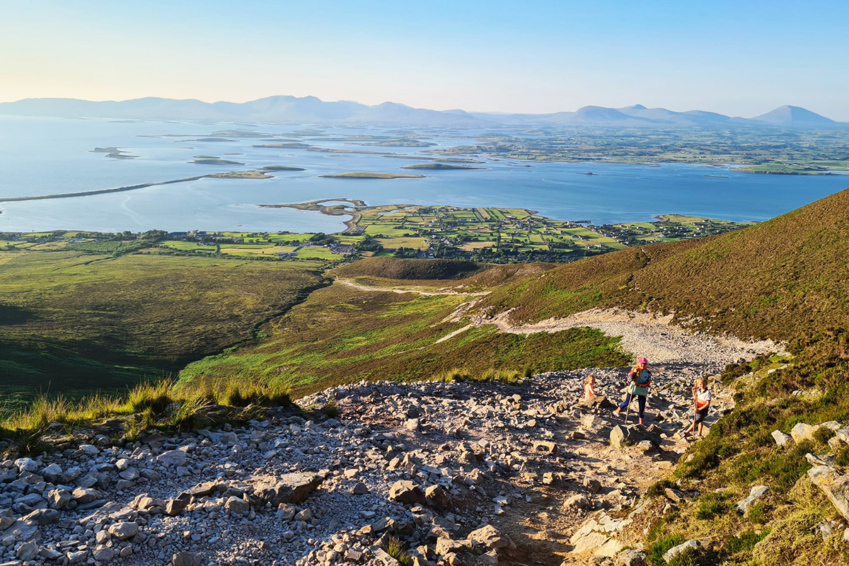 The view Across Clew Bay from Croagh Patrick