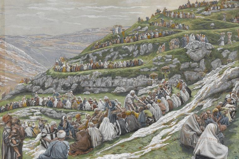 """James Tissot (1836-1902), """"The Multiplication of the Loaves"""""""