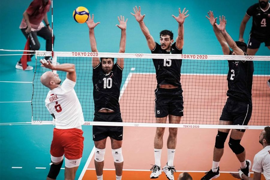 Iran and Poland compete in the volleyball tournament of the 2020 Summer Olympics in Tokyo, Japan.