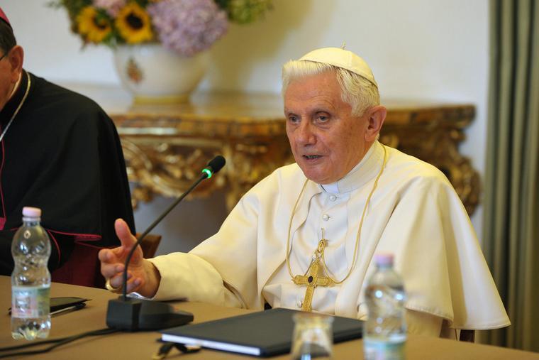 Pope Benedict XVI on Aug. 28, 2010.